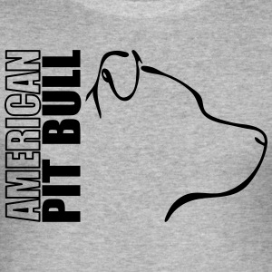 AMERICAN PITBULL PROFILE - Men's Slim Fit T-Shirt