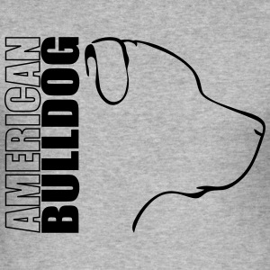 AMERICAN BULLDOG PROFILE - Men's Slim Fit T-Shirt