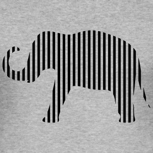 Elephant in strips - Men's Slim Fit T-Shirt