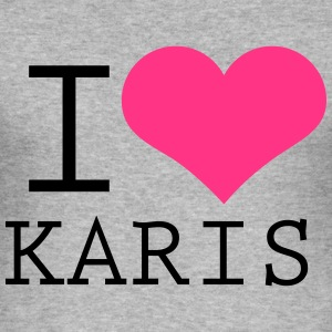 I HEART KARIS - Männer Slim Fit T-Shirt