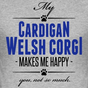 My Cardigan Welsh Corgi makes me happy - Männer Slim Fit T-Shirt
