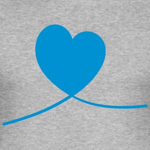 heart line - Slim Fit T-shirt herr