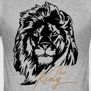 The Lion - The King - Men's Slim Fit T-Shirt