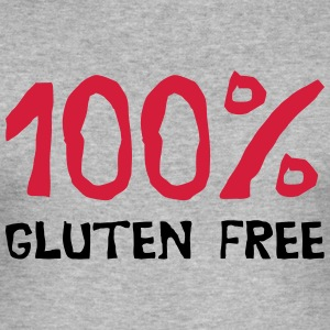 100% gluten - Slim Fit T-skjorte for menn