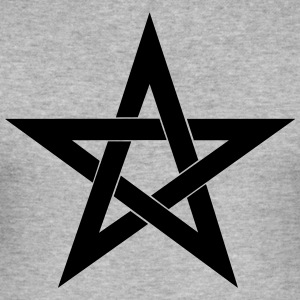 Pentagram, pentakle, magi, symbol, hekseri - Slim Fit T-skjorte for menn