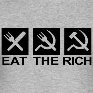 Eat the rich - Men's Slim Fit T-Shirt