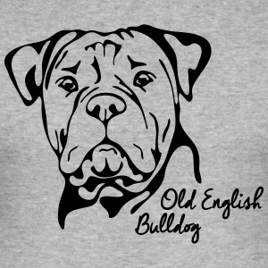 OLD ENGLISH BULLDOG PORTRAIT - Men's Slim Fit T-Shirt