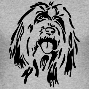 skäggig Collie - Slim Fit T-shirt herr