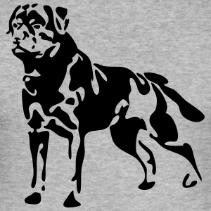 Rottweiler standing - Men's Slim Fit T-Shirt