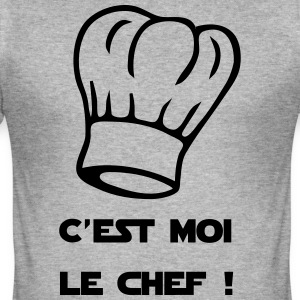 Ik ben de leider! Chef's Hat - slim fit T-shirt