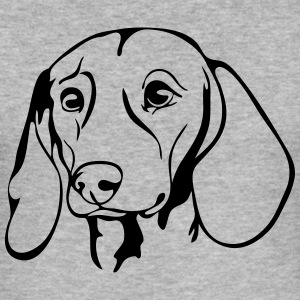 DACHSHUND DACHSHUND PORTRAIT - Men's Slim Fit T-Shirt