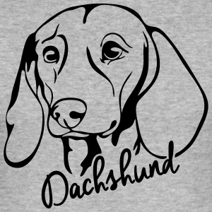 DACHSHUND PORTRAIT - Men's Slim Fit T-Shirt