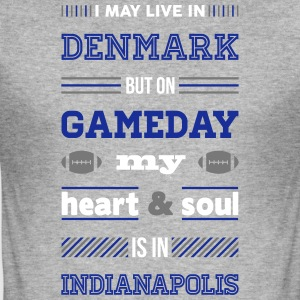 I may live in Denmark... (Indianapolis edition) - Herre Slim Fit T-Shirt