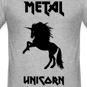 metall Unicorn - Slim Fit T-shirt herr