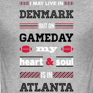 I may live in Denmark... (Atlanta edition) - Herre Slim Fit T-Shirt
