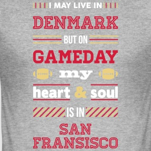 I may live in Denmark... (San Fransisco edition) - Herre Slim Fit T-Shirt