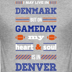 I may live in Denmark... (Denver edition) - Herre Slim Fit T-Shirt