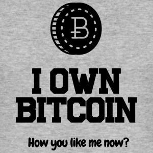 I own Bitcoin! - Men's Slim Fit T-Shirt
