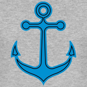 Anchor, sailing, sailboat, captain, boat harbor city - Men's Slim Fit T-Shirt
