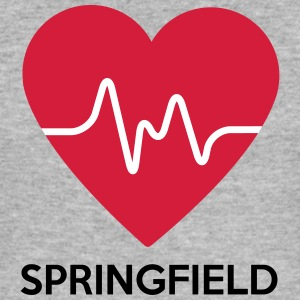 Heart Springfield - Men's Slim Fit T-Shirt