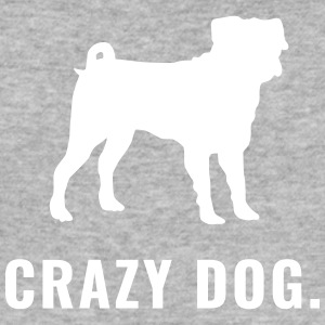 Mops - Crazy Dog - Männer Slim Fit T-Shirt