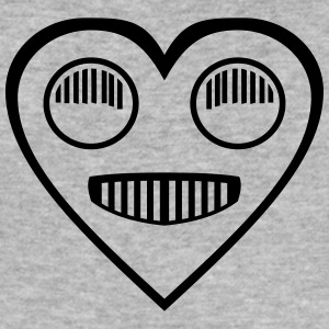 Automotive Love - Heart strålkastare ögon - Slim Fit T-shirt herr