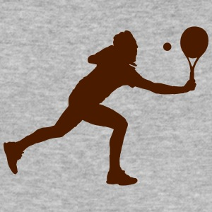 Tennis player silhouette - Men's Slim Fit T-Shirt