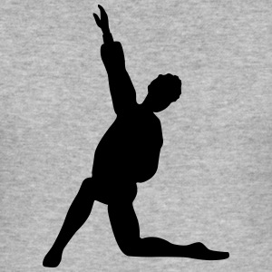 Vector Balletdanser Silhouet - slim fit T-shirt