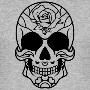Mexican Sugar Skull rose / sugarskull - Men's Slim Fit T-Shirt