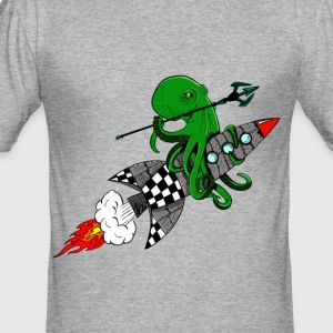 squid warrior - Men's Slim Fit T-Shirt