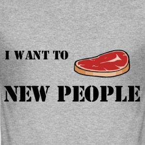 Meat new people ;) - slim fit T-shirt