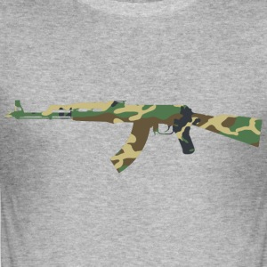 AK47 kamouflage - Slim Fit T-shirt herr