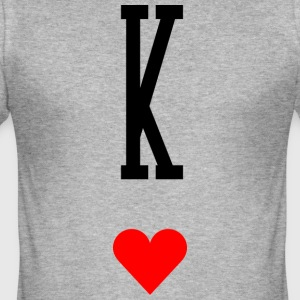 King of Hearts - Men's Slim Fit T-Shirt