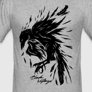 raven_tribal - Herre Slim Fit T-Shirt
