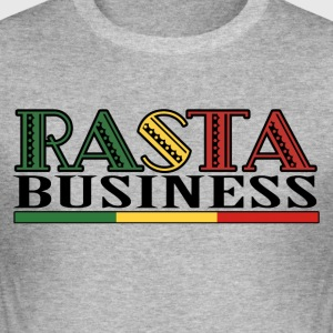 Rasta Business - Men's Slim Fit T-Shirt