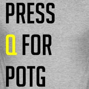 Press Q for play of the game - Slim Fit T-shirt herr