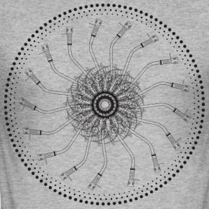 draaitafel mandala 1200 - slim fit T-shirt