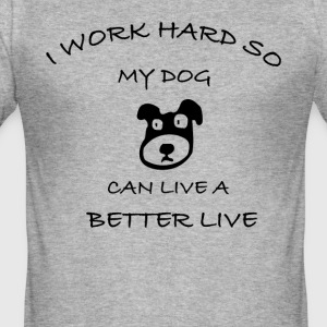 Dog - Slim Fit T-shirt herr