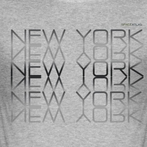 Plass Atlas Tee New York New York - Slim Fit T-skjorte for menn