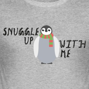 Snuggle Up With Me - Men's Slim Fit T-Shirt