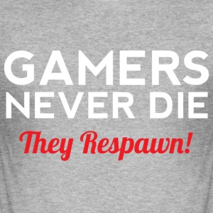 Gamers Never Die - Männer Slim Fit T-Shirt