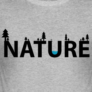 natur - Slim Fit T-skjorte for menn