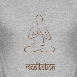 meditation - Slim Fit T-shirt herr