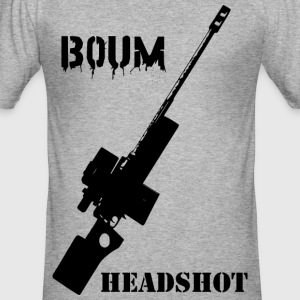 Boom Headshot Sniper - Männer Slim Fit T-Shirt