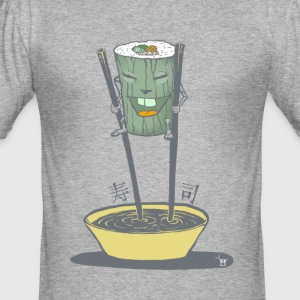 Walkin' Sushi - Männer Slim Fit T-Shirt
