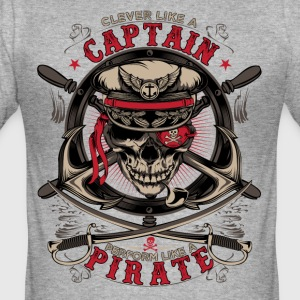 capitaine pirate - Tee shirt près du corps Homme