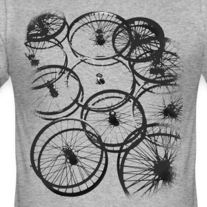 Fietsband spokes biker cool design stijl gr - slim fit T-shirt