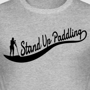 Stand Up Paddling - Wave - flicka - Slim Fit T-shirt herr
