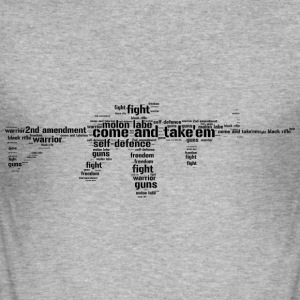 ar15 black rifle tacticool word cloud - Men's Slim Fit T-Shirt