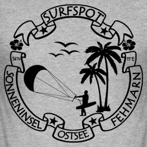 Fehmarn Surf Logo - Men's Slim Fit T-Shirt